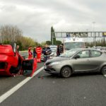 car accident on a motorway